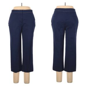 Talbots navy cropped flat front pants size 10